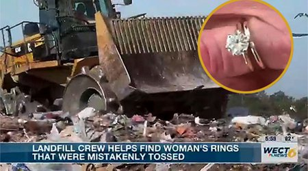 Landfill Workers Go Above and Beyond to Rescue NC Woman's Bridal Jewelry